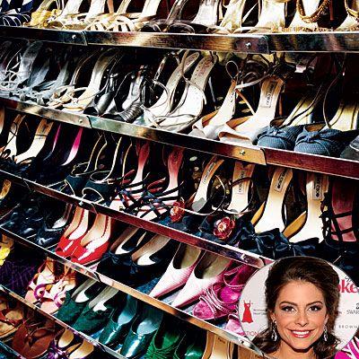 Maria Menouos  Tam bir ayakkabı tutkunuysanız, ayakkabılarınızı saklamak için özel bir alana ihtiyaç duyacağınız kesin.